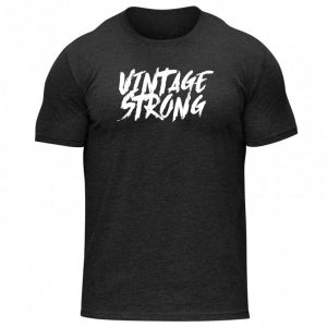 Represent vintage training with the Vintage Strong Workout Tee!